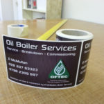 Oil Boiler Services Printed Labels